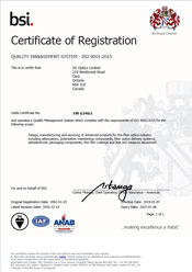 BSI Certificate of Registration Canada