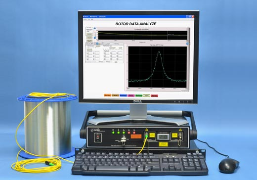 BOTDR and/or BOTDA Based Fiber Optic Distributed Strain and Temperature Sensors
