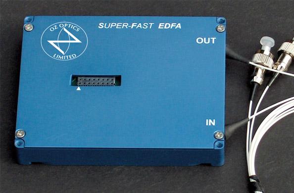 Super Fast Response Erbium Doped Fiber Amplifier